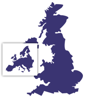 Coving the whole of the UK and Europe