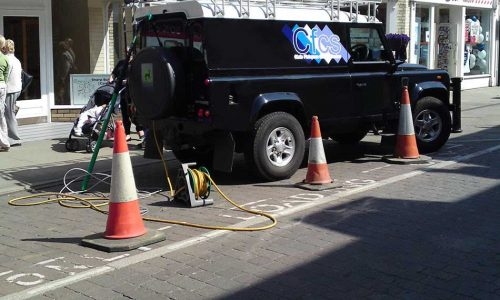 Our Landrover In Shopping Centre