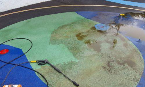 Splash Pad Cleaning