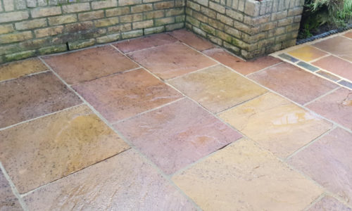 Recently Cleaned Yorkstone Floor